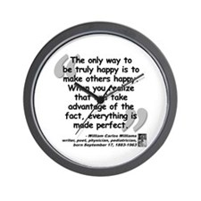 Williams Happy Quote Wall Clock
