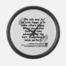 Williams Happy Quote Large Wall Clock