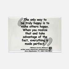 Williams Happy Quote Rectangle Magnet