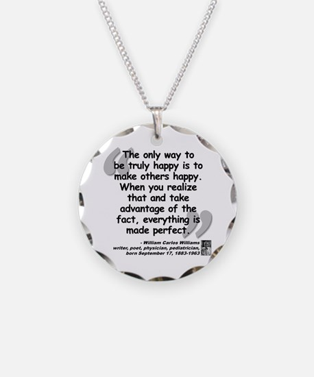 Williams Happy Quote Necklace