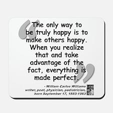 Williams Happy Quote Mousepad