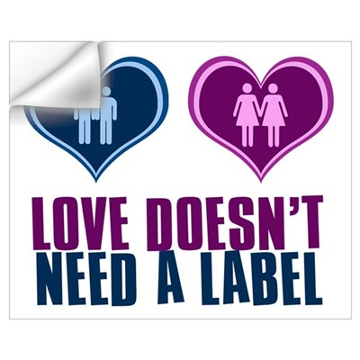 GLBT Love Wall Decal