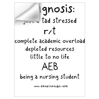 Tad Stressed Student Nurse Wall Decal