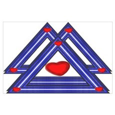 3 LEATHER PRIDE TRIANGLES Poster