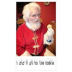 Santa Cookies Poster