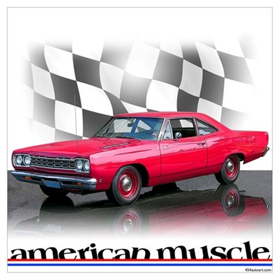 Road Runner Muscle Poster