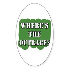 Where's the Outrage? Oval Decal