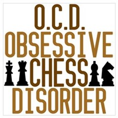 Funny Chess Addict Framed Print
