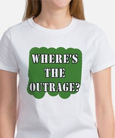 Where's the Outrage? Women's T-Shirt
