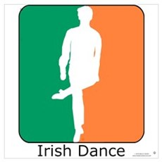 Irish Dance Tricolor Boy Poster