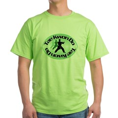 Tae Kwon Do Fighting Stance Green T-Shirt