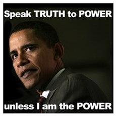 Obama Speak Truth to Power Framed Print
