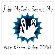 John McCain Scares Me Poster