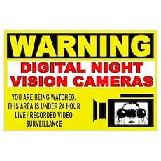 Warning Night Vision Poster