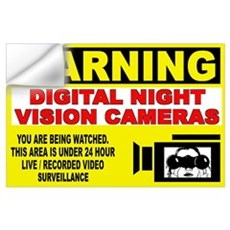 Warning Night Vision Wall Decal