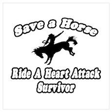 """""""Ride Heart Attack Survivor"""" Poster"""