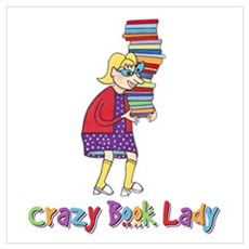 Crazy Book Lady Framed Print