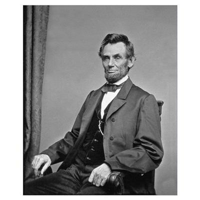 Pres Abraham Lincoln Civil War Photo Canvas Art