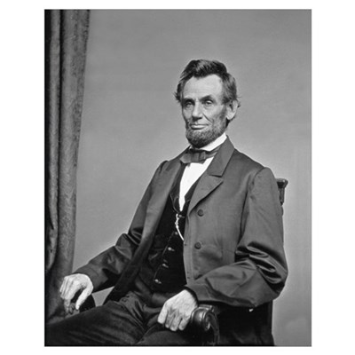 Pres Abraham Lincoln Civil War Photo Poster