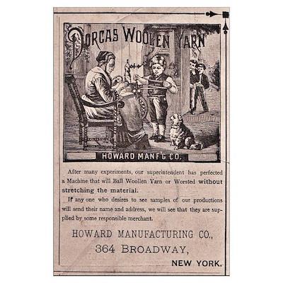 Victorian Woolen Yarn Ad Poster