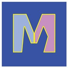 M is for Traditional Marriage Canvas Art