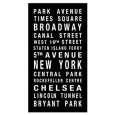New York Destination Roll Canvas Art