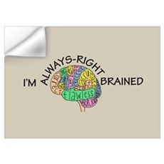 Always-Right Brained Wall Decal
