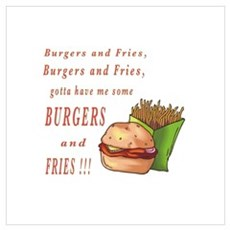 Burgers and Fries Poster