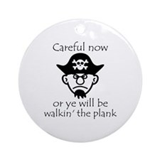 Pirate - Walking the Plank Ornament (Round)