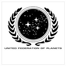 Federation Seal (mono) Poster