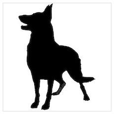 German Shepherd Silhouette Poster