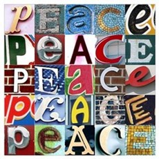PEACE Signs Canvas Art