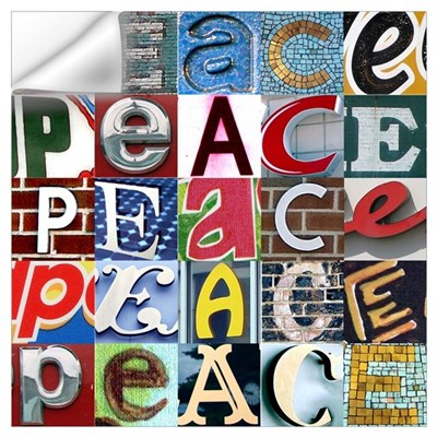 PEACE Signs Wall Decal
