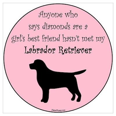 Girls Best Friend - Lab Poster