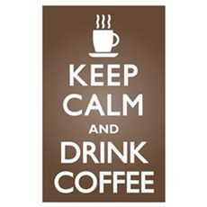 Keep Calm Drink Coffee Canvas Art