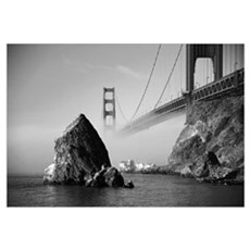 GOLDEN GATE FOG * Framed Print
