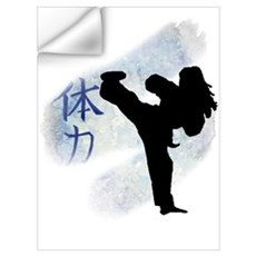 Round Kick 2 Wall Decal