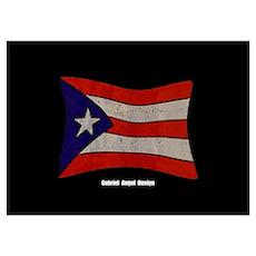 Puerto Rico Flag Graffiti Poster