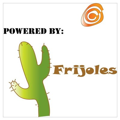 Powered by Frijoles Framed Print