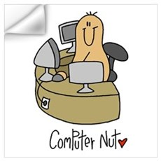Computer Nut Wall Decal