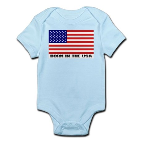 Born in the USA Infant Creeper