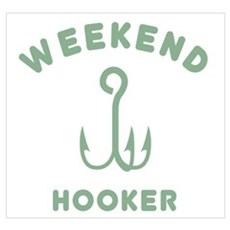 Weekend Hooker Framed Print