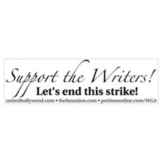 Support the Writers! Framed Print