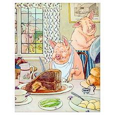 Roast Beef Piggy Poster