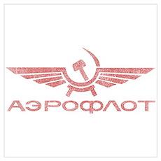 Vintage Aeroflot Poster