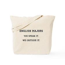 Cute English major Tote Bag