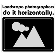 Landscape photographers do it Poster