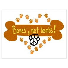 Bones Not Bombs Canvas Art