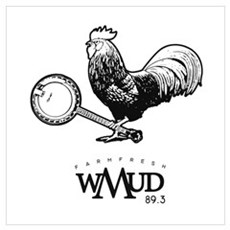 wMud Rooster Outline Canvas Art