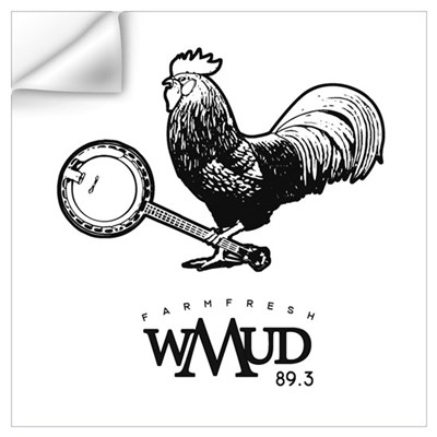wMud Rooster Outline Wall Decal